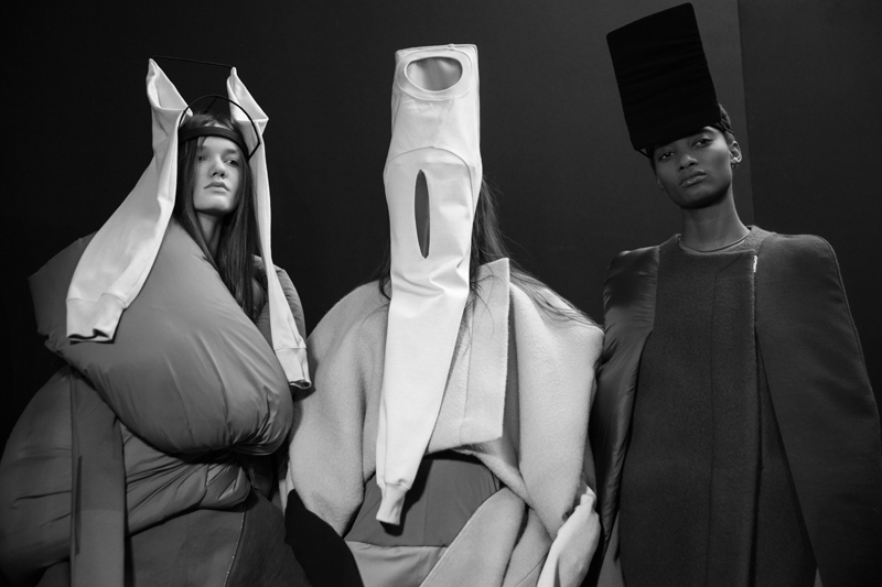 House of Malakai creations at Rick Owens fall-winter 2017-2018 show photographed by Mehdi Mendas