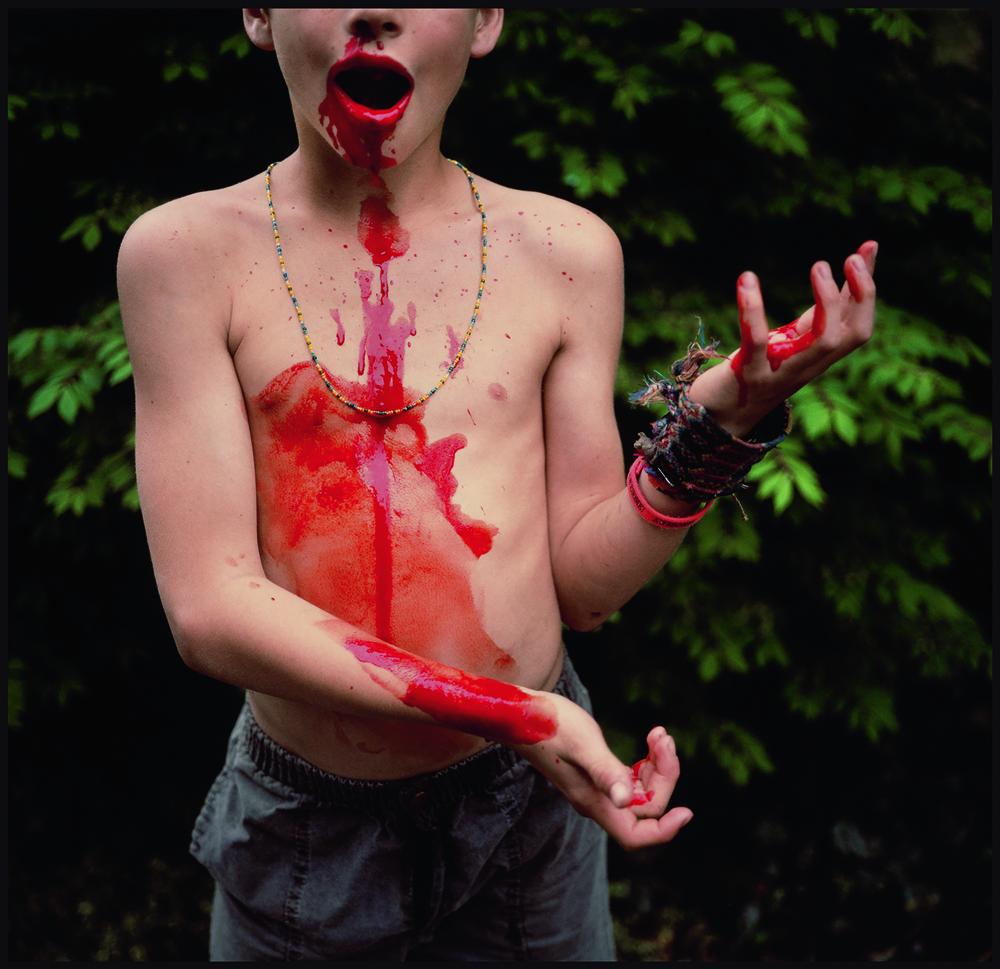 """""""BLOODY NOSE"""" (1991). SILVER DYE BLEACH PRINT."""
