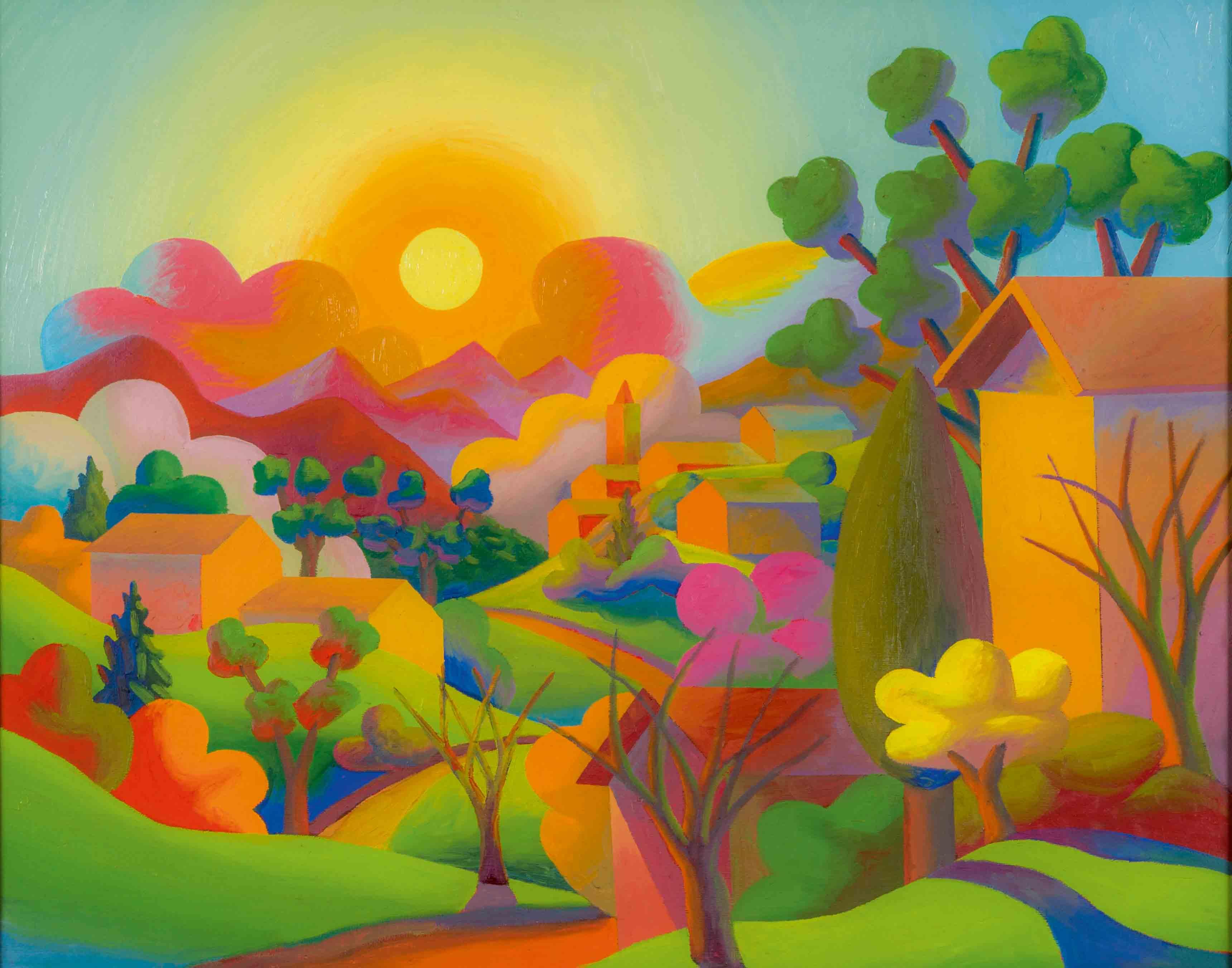 """""""La Valle"""" '2007), de Salvo, huile sur toile. Courtesy Archivio Salvo,Turin"""
