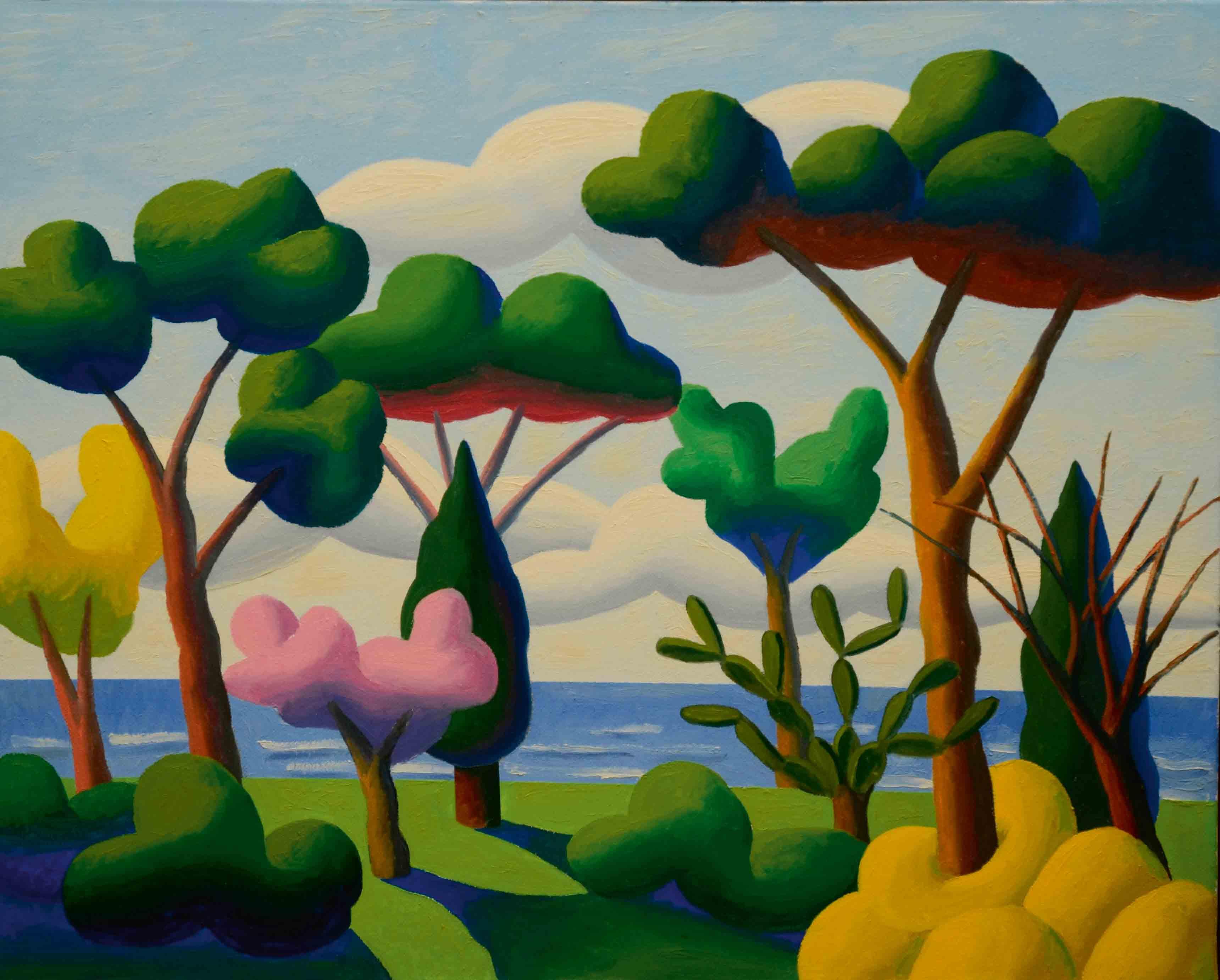 """""""Primavera"""" (2007), de Salvo, huile sur toile, 80 x 100 cm. Collection privée, Milan."""