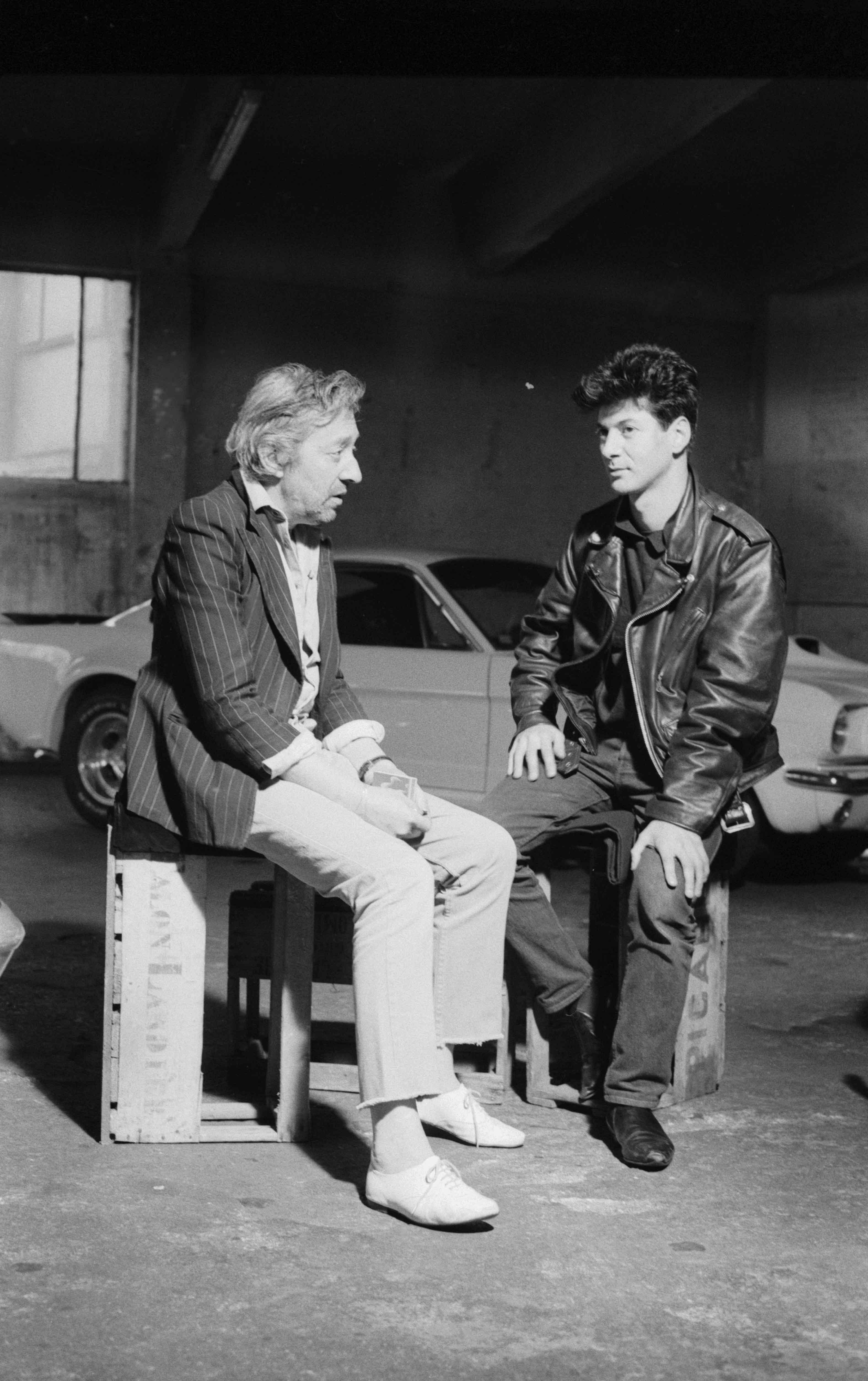 Serge Gainsbourg et Étienne Daho, 1987 ©Claude Delorme