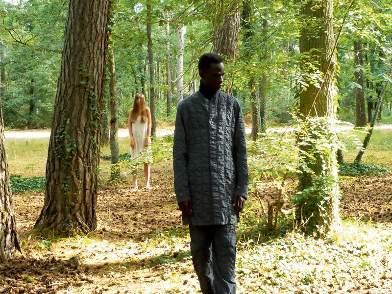 Veste et pantalon en Nylon matelassé et col roulé en laine, Boss.