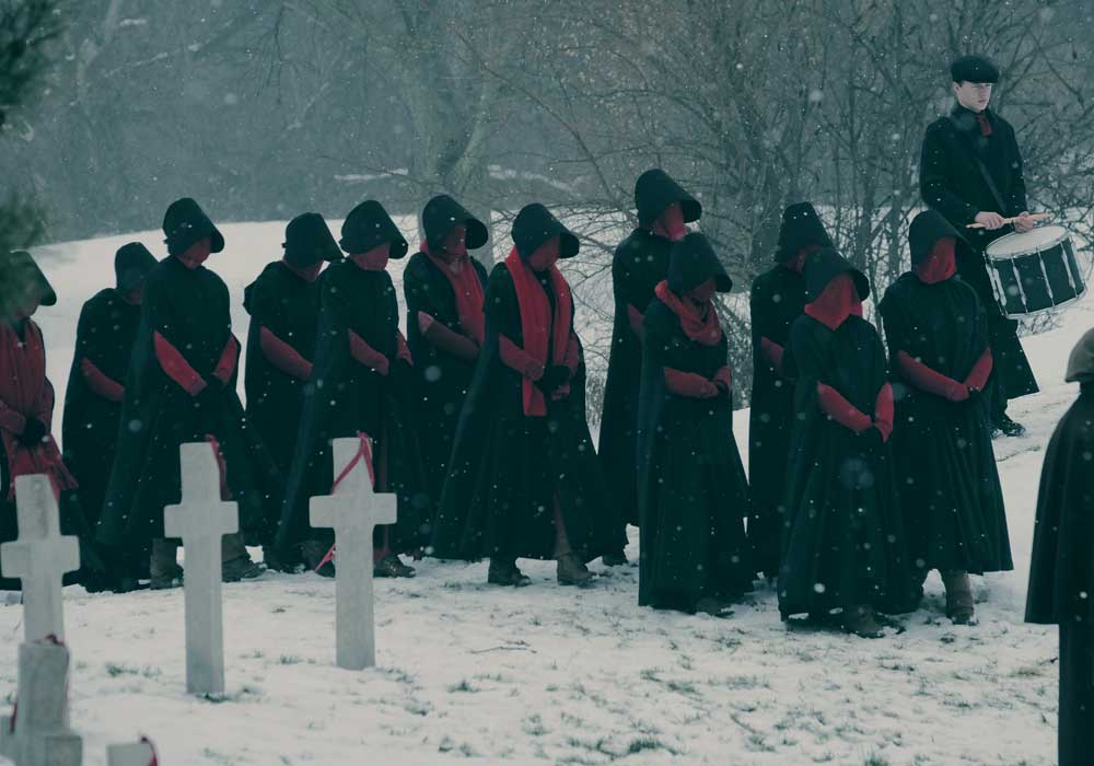 2018 MGM Television Entertainment, Inc. and Relentless Productions, LLC. THE HANDMAID'S TALE is a trademark of Metro-Goldwyn-Mayer Studios, Inc. All rights reserved