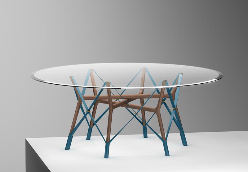 """""""Serpentine Table"""" réalisé par le trio suisse d'Atelier Oï."""