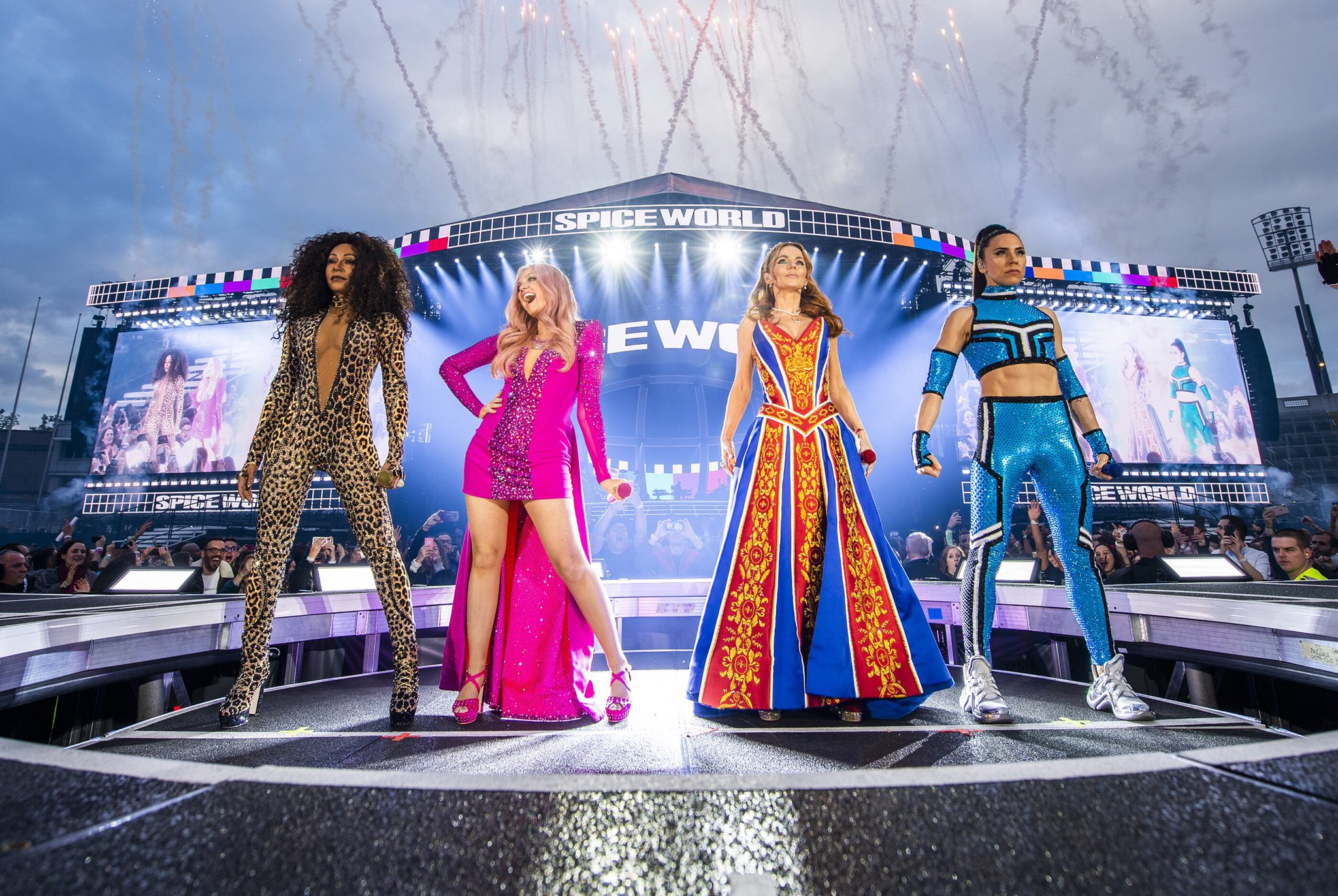 The Spice Girls on May 24, 2019 in Dublin, photo by Andrew Timms