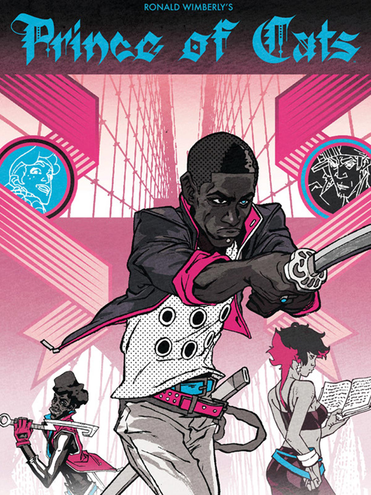 "Cover of the graphic novel ""Prince of Cats"" by Ron Wimberly."