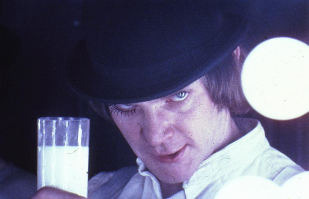 """Malcolm McDowell dans """"Orange Mécanique"""" réalisé par Stanley Kubrick (1971)"""