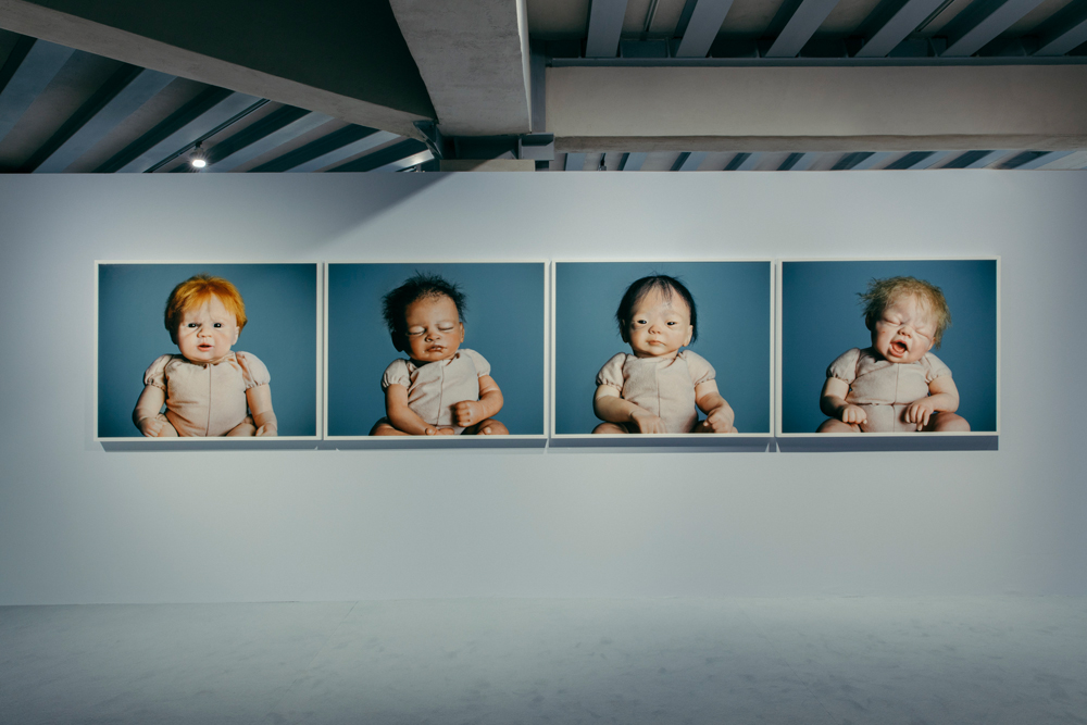 """Surrogati. Un amore ideale"" exhibition, Osservatorio of the Prada Foundation, in Milan with photographs by Jamie Diamond: ""Aisha"" (2014), ""Harry"" (2014), ""Kameko"" (2014) and ""Troy"" (2014), from the ""Nine Months of Reborning"" series. Courtesy of Fondazione Prada, Photo: Mattia Balsamini"