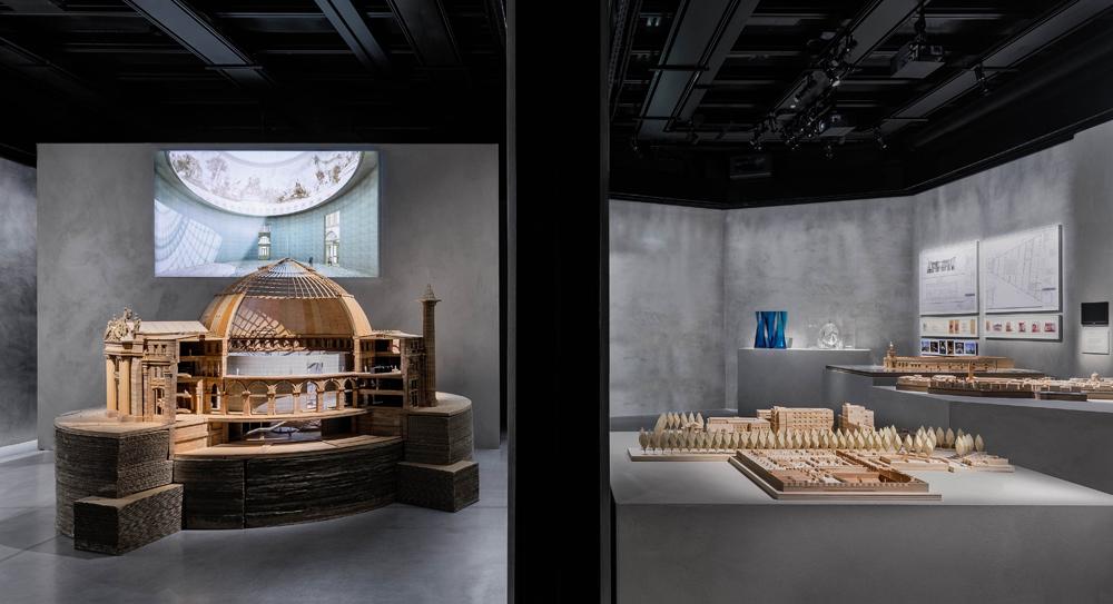 """Vue de l'exposition """"The Challenge"""" consacrée à Tadao Ando. Courtesy of Giorgio Armani."""