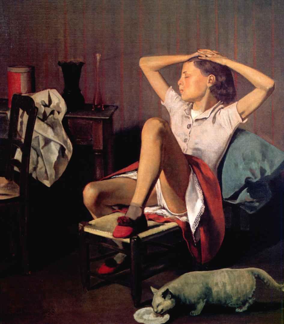 """""""Thérèse rêvant"""", Balthus, 1938."""