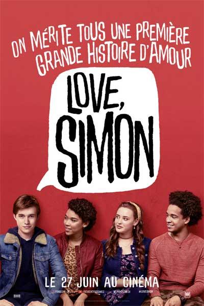 "Affiche du film de Greg Berlanti, ""Love, Simon"", avec Nick Robinson et Katherine Langford."