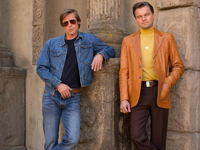"Brad Pitt et Leonardo DiCaprio dans le nouveau film de Quentin Tarantino, ""Once Upon a Time in Hollywood""."