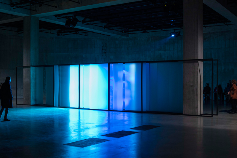"Lawrence Abu Hamdan, installation view of ""Walled Unwalled"" in The Tanks, Tate Modern London 2018. Photo by Tate Photography."