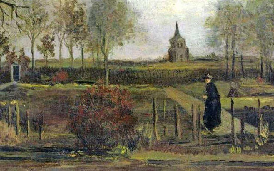"""""""Le Jardin du presbytère de Nuenen au printemps"""" (1884) Vincent Van Gogh © Musée de Groningue"""