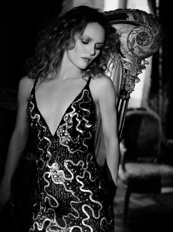 Vanessa Paradis photographiée par Karl Lagerfeld en 2018.