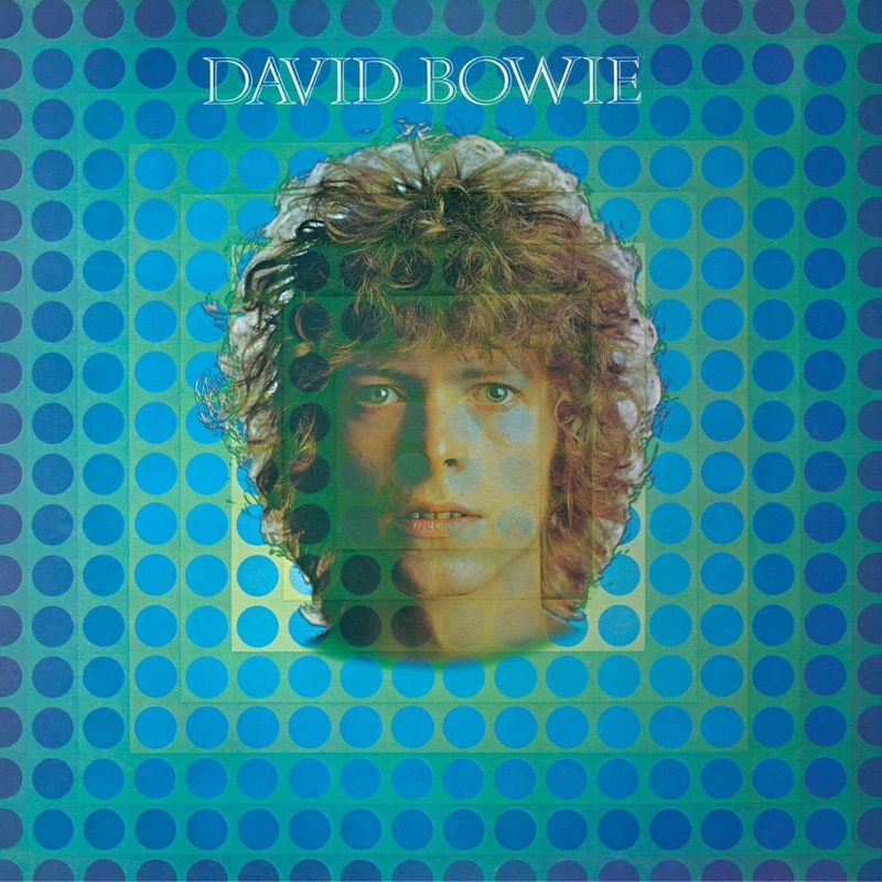 "David Bowie, ""Space Oddity"" (1969), Philips Records. Pochette : Vernon Dewhurst / Victor Vasarely."