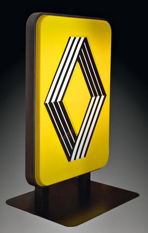 "Victor Vasarely et Yvaral, ""Logo Renault"" (1972). Photo © Fabrice Lepeltier © ADAGP, Paris, 2018"