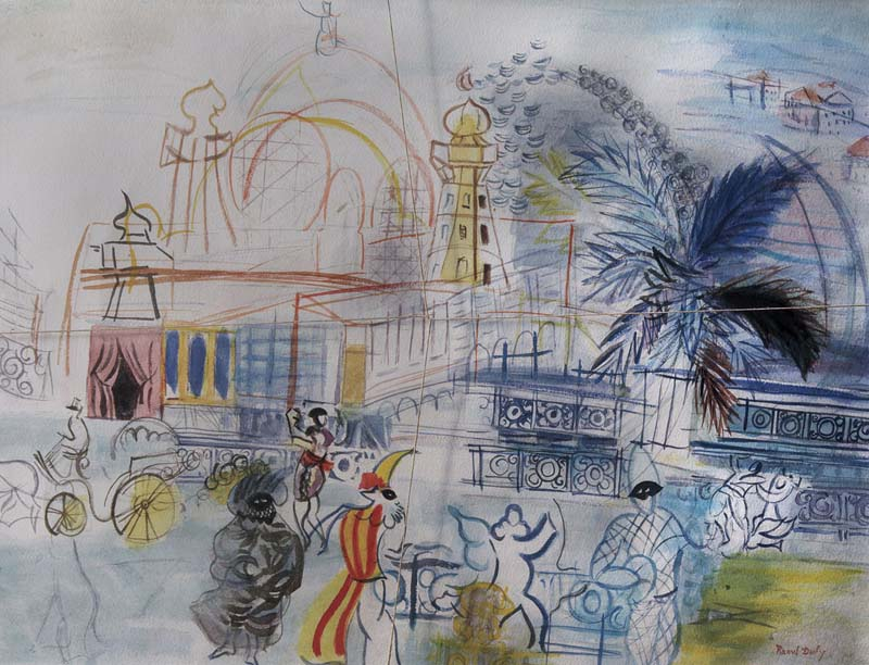 Un tableau de Guy Ribes, pastiche de Raoul Dufy