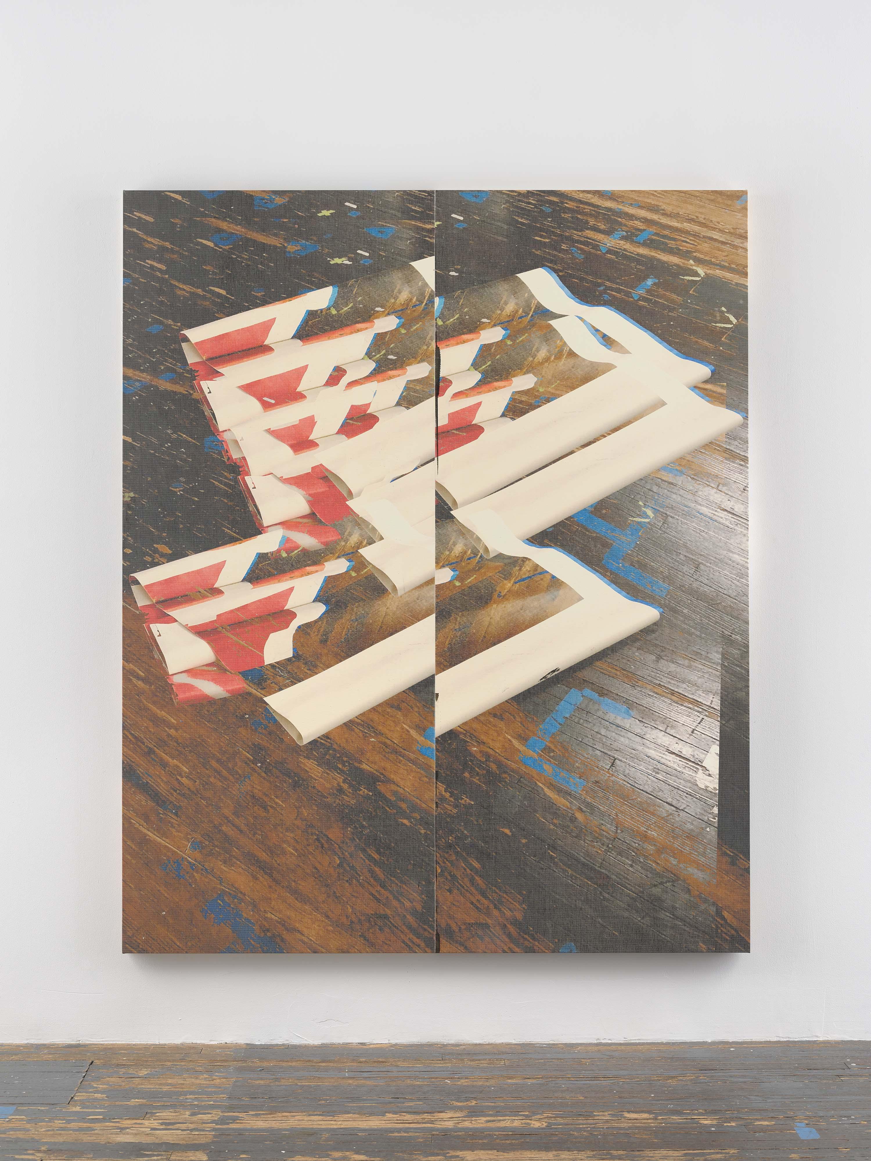 """Wade Guyton, """"Sans titre"""" (2019). Impression jet d'encre sur lin, 213 x 175 cm.Photo : Ron Amstutz. Courtesy de l'artiste et Galerie Chantal Crousel, Paris"""