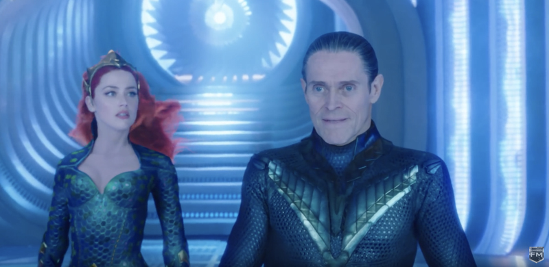 "Amber Heard et Willem Dafoe dans ""Aquaman"" de James Wan (2018)"