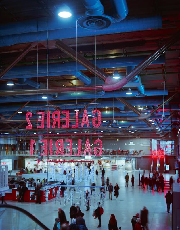 Centre Georges pompidou, lieu de rencontre entre Yannick Alléno et Bernard Blistène. Crédit : Mario Palmieri