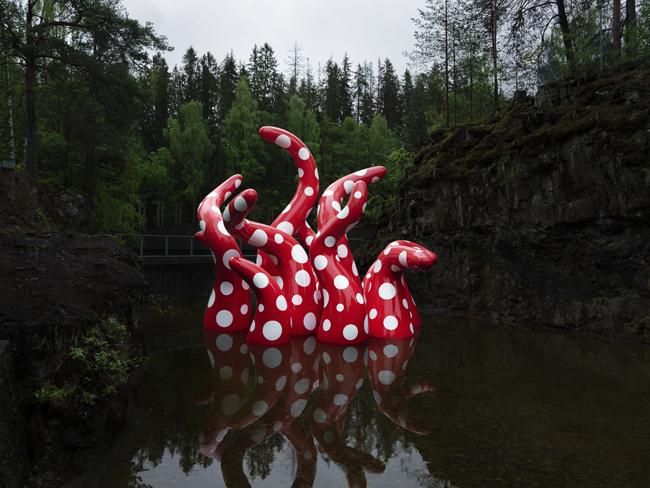 """La sculpture """"Shine of Life"""" (2019), au musée de Kistefos, en Norvège."""