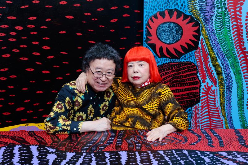 Yayoi Kusama et Kishin Shinoyama. Photo par Kishin Shinoyama.