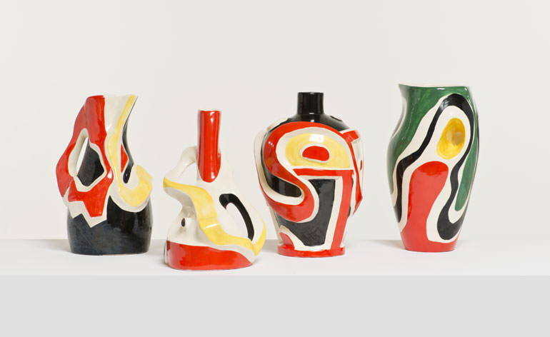 Roland Brice and Fernand Léger's ceramic vases from Raf Simons' collection     5. A CERAMICS AMATEUR   Collector of furniture and art, in 2013 Raf Simons got rid of an impressive treasure: 99 ceramic pieces dating between 1945 and 1970 that he'd been collecting for fifteen years were sold at Piasa in Paris. The pure inventive shapes, often inspired by nature, of these strange vases provide a valuable clue to the designer's source of inspiration.       By Delphine Roche