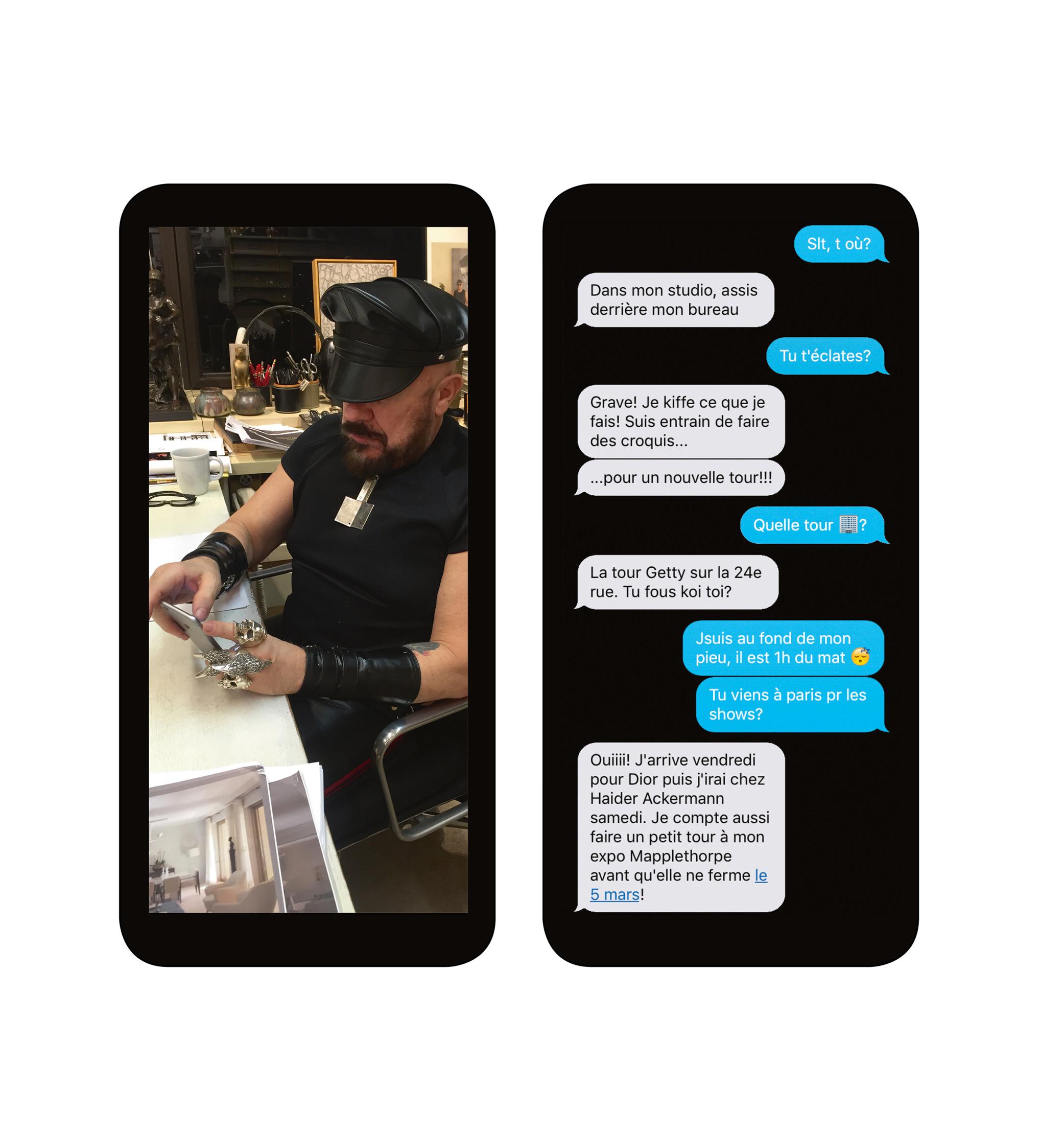Numéro masqué: SMS hautement confidentiels avec Peter Marino