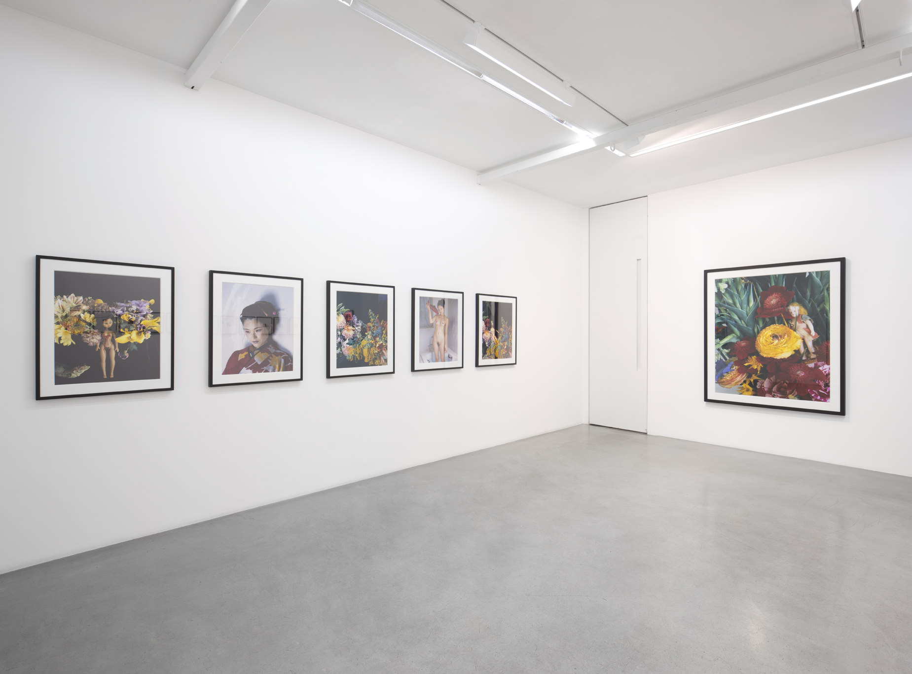 View of the exhibition, Kamel Mennour, Paris, 2016. Photo :Julie Joubert, archives Kamel Mennour. Courtesy the artist and Kamel Mennour, Paris. © Nobuyoshi Araki