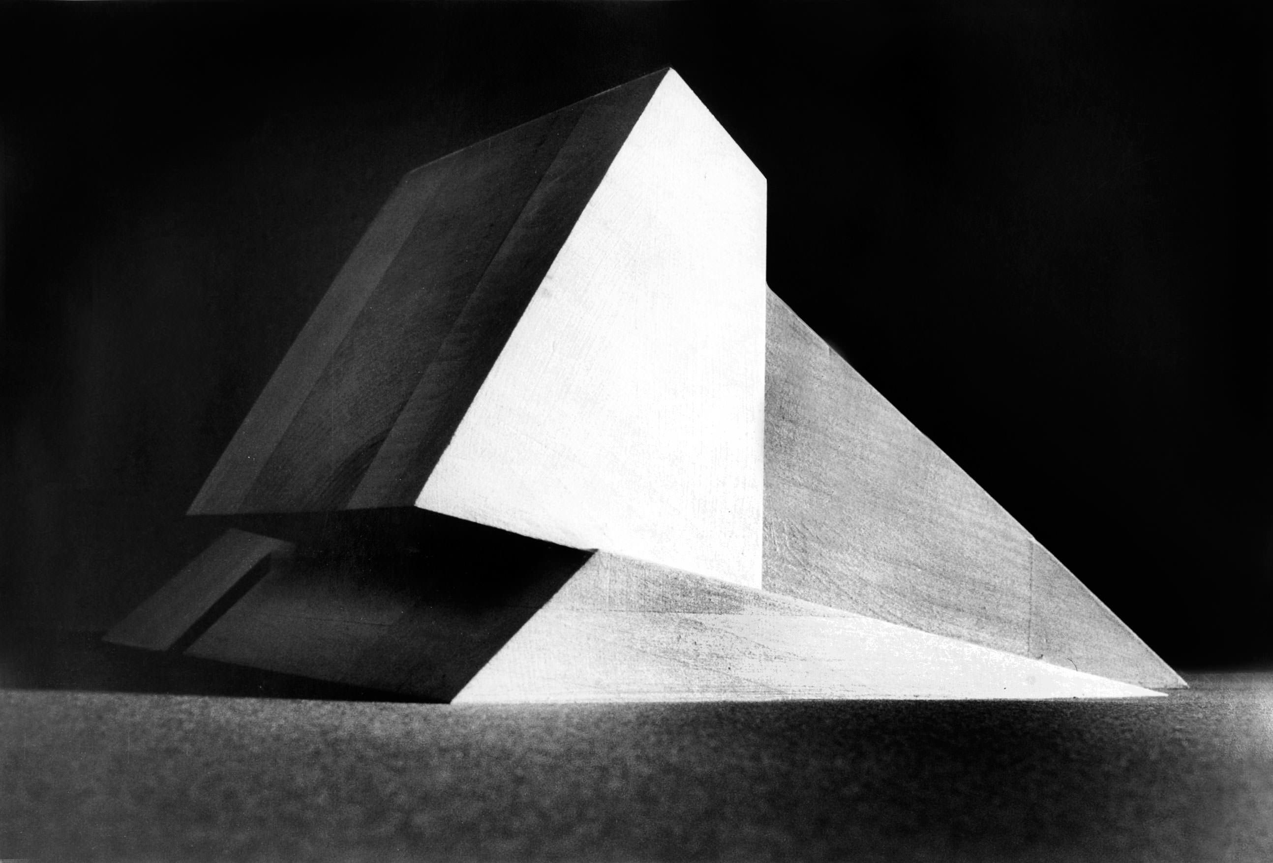 MUSÉED'ARTMODERNEOBLIQUE(1972),Claude Parent.  Original phtographs from Michel‐CharlesGaffier. Taken up byDennisBouchard