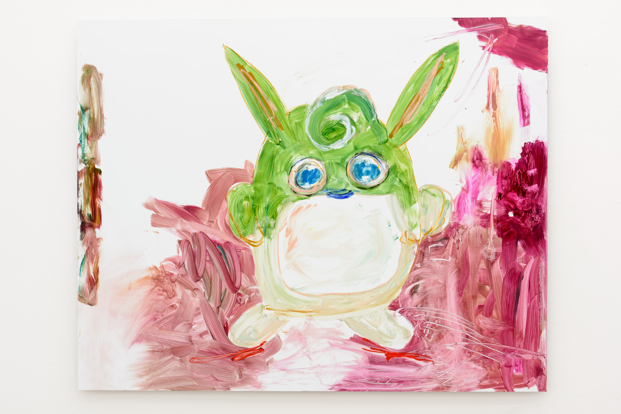Reena Spaulings,Wigglystuff(2016).Peinture à l'huile sur Dibond. 100 x 130 cm. Courtesy of the artist and Galerie Chantal Crousel, Paris Photo: Florian Kleinefenn