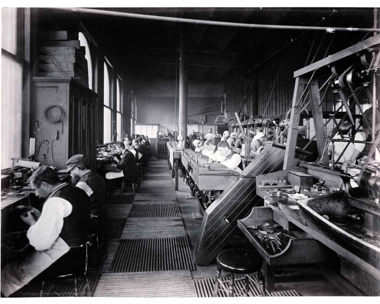 Tiffany & Co. workshops, Union Square, New York 1874.    Tiffany & Co. Archives