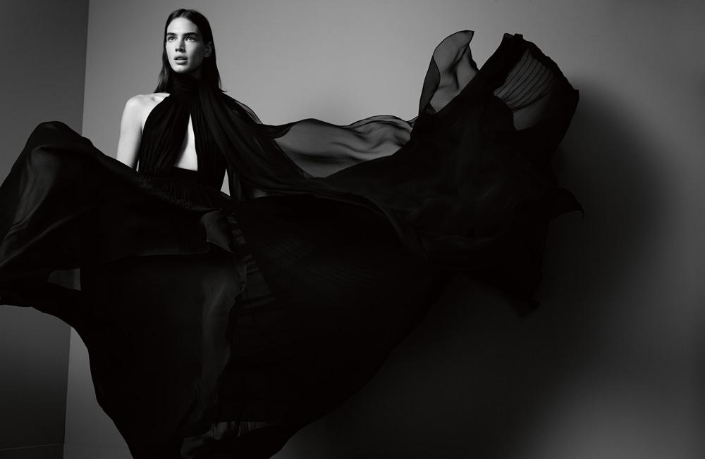 Silk dress, ELIE SAAB.