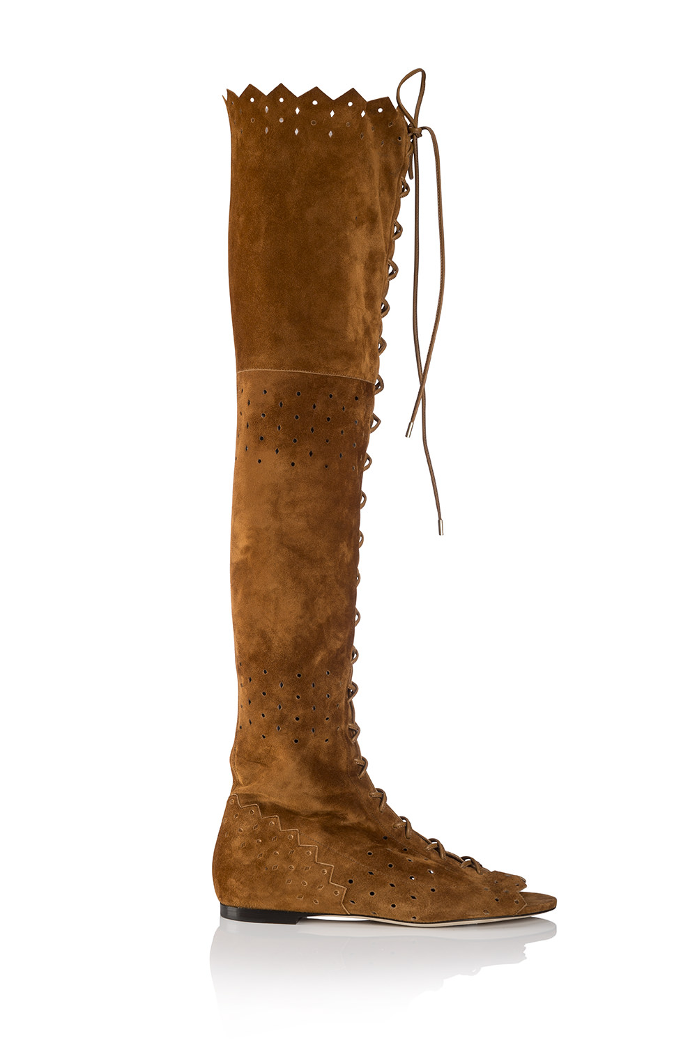 Suede thigh-high boot, JIMMY CHOO.