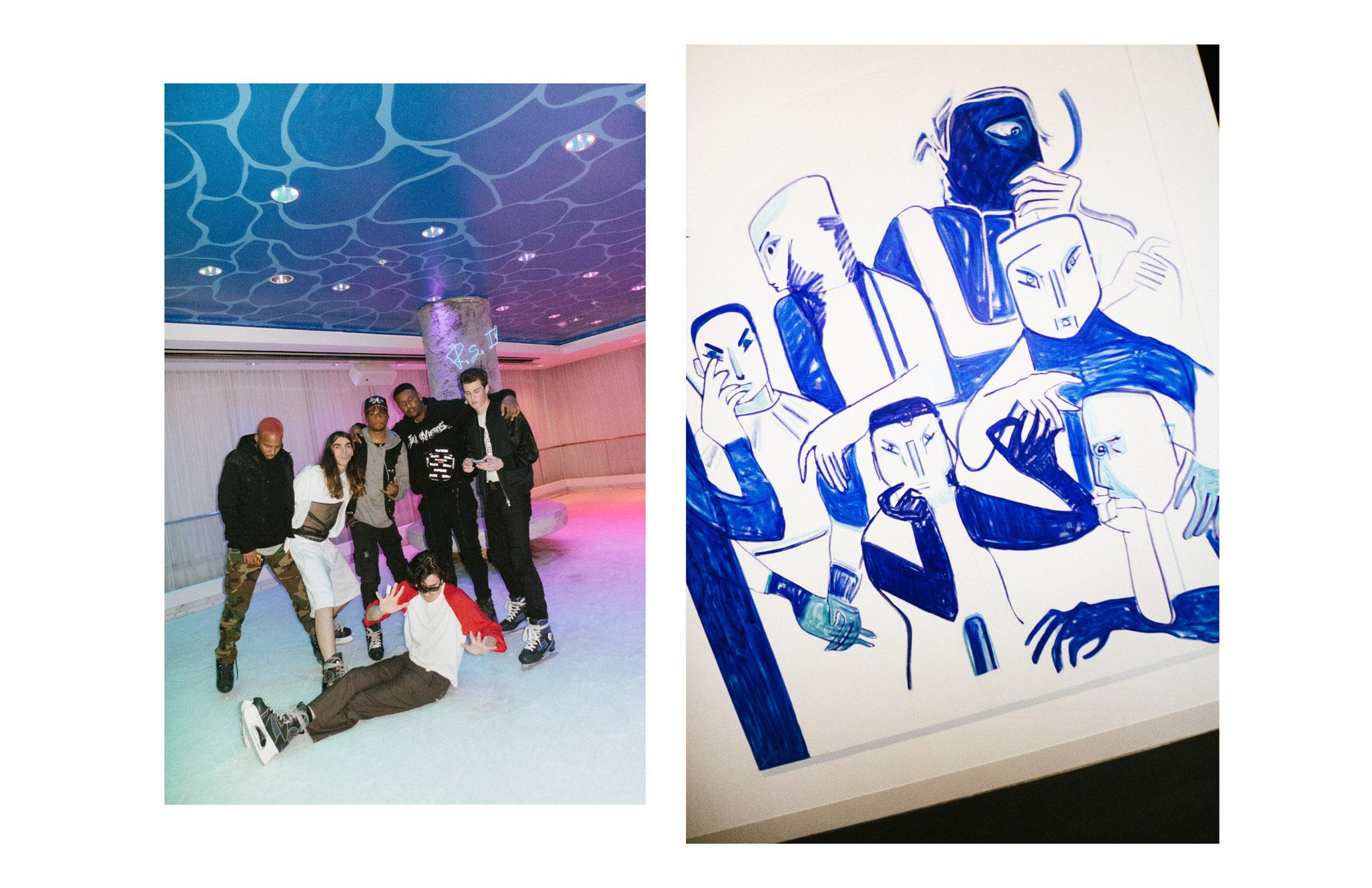 De gauche à droite :Teo No, Cyber69, KillCa$tro et Fiji deCMDWN, Jonah Levine et Gianni Mora.