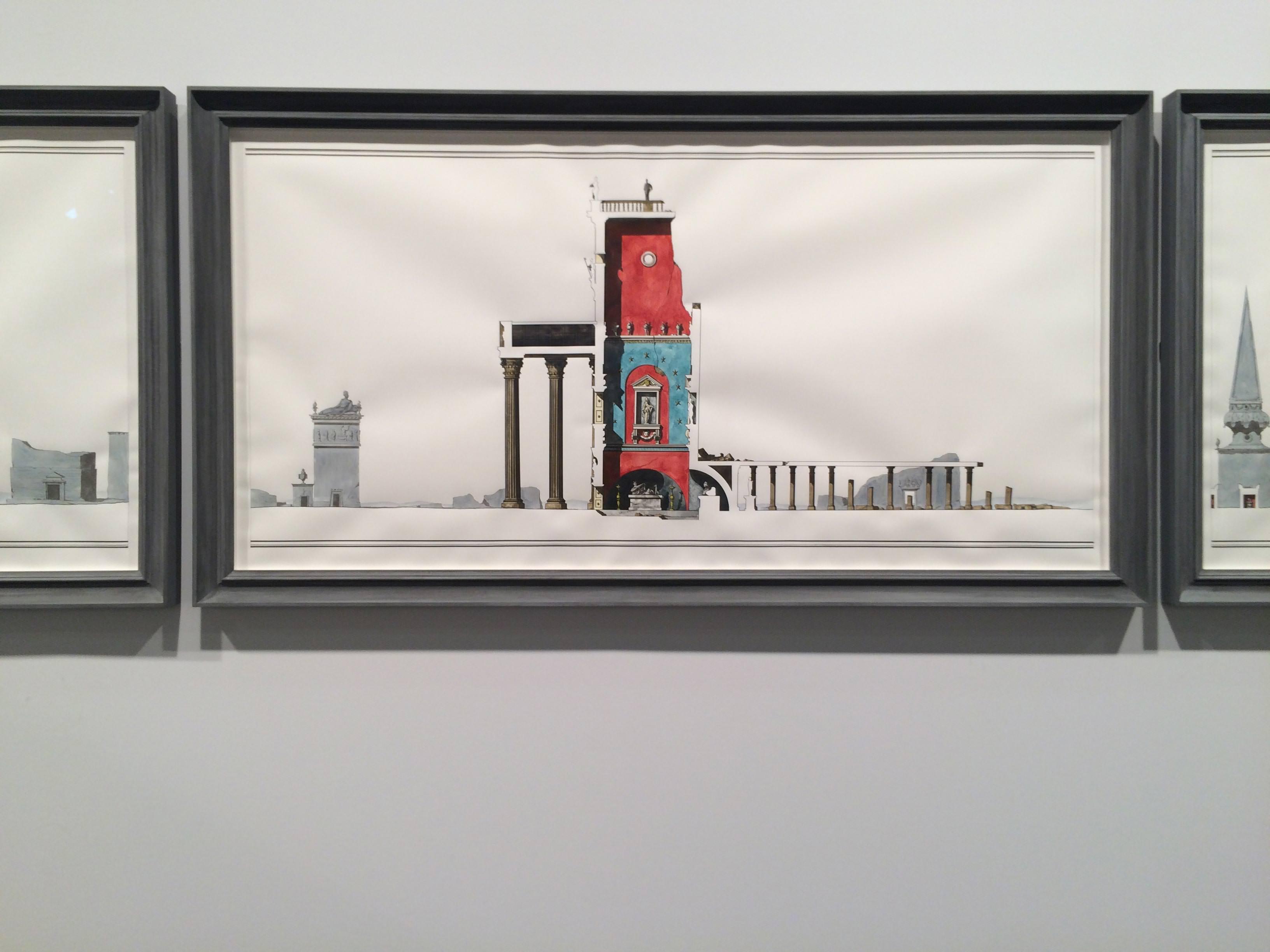 Cross Section of the Via Appia in Late Antiquity(2015) de Pablo Bronstein, galerieHerald St et Galleria Franco Noero.   UN SEUL MOT D'ORDRE : D.I.V.E.R.S.I.T.É  Bâle ne serait pas la foire incontournable qu'elle est si elle ne suivait pas les grandes modes de l'art contemporain. Et la mode, aujourd'hui, tient un mot: DIVERSITÉ. Du nouvel accrochage de la Tate Modern à Londres (révélé au même moment qu'Art Basel) aux engagements des plus grands musées américains, l'affaire est entendue: il faut plus femmes, plus d'artistes non-occidentaux, plus de vidéos, plus de performances, plus de plus. Il était temps! La Chine évidemment (Cheng Rande Mongolie intérieure par exemple), l'Inde (Mithu SenouPrabhavathi Meppayil), le Brésil (Paulo Nazareth), le Mexique (Rafael Lozano-HemmeretKrzysztof Wodiczko)…