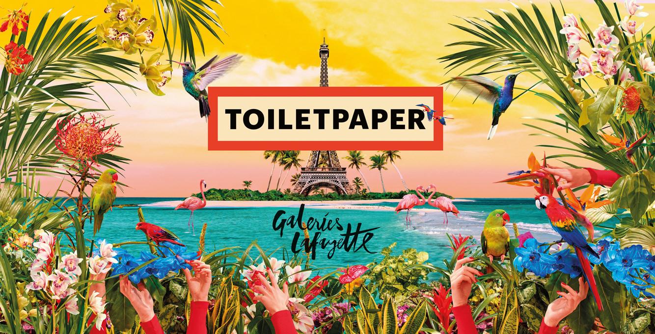 L'impertinence de TOILETPAPER aux Galeries Lafayette