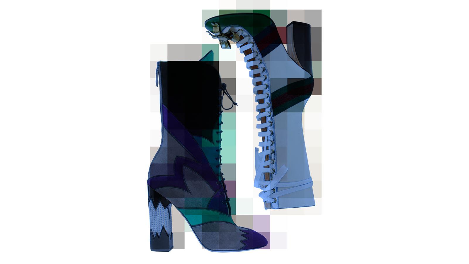 Les bottines à lacets de Miu Miu et de Gucci