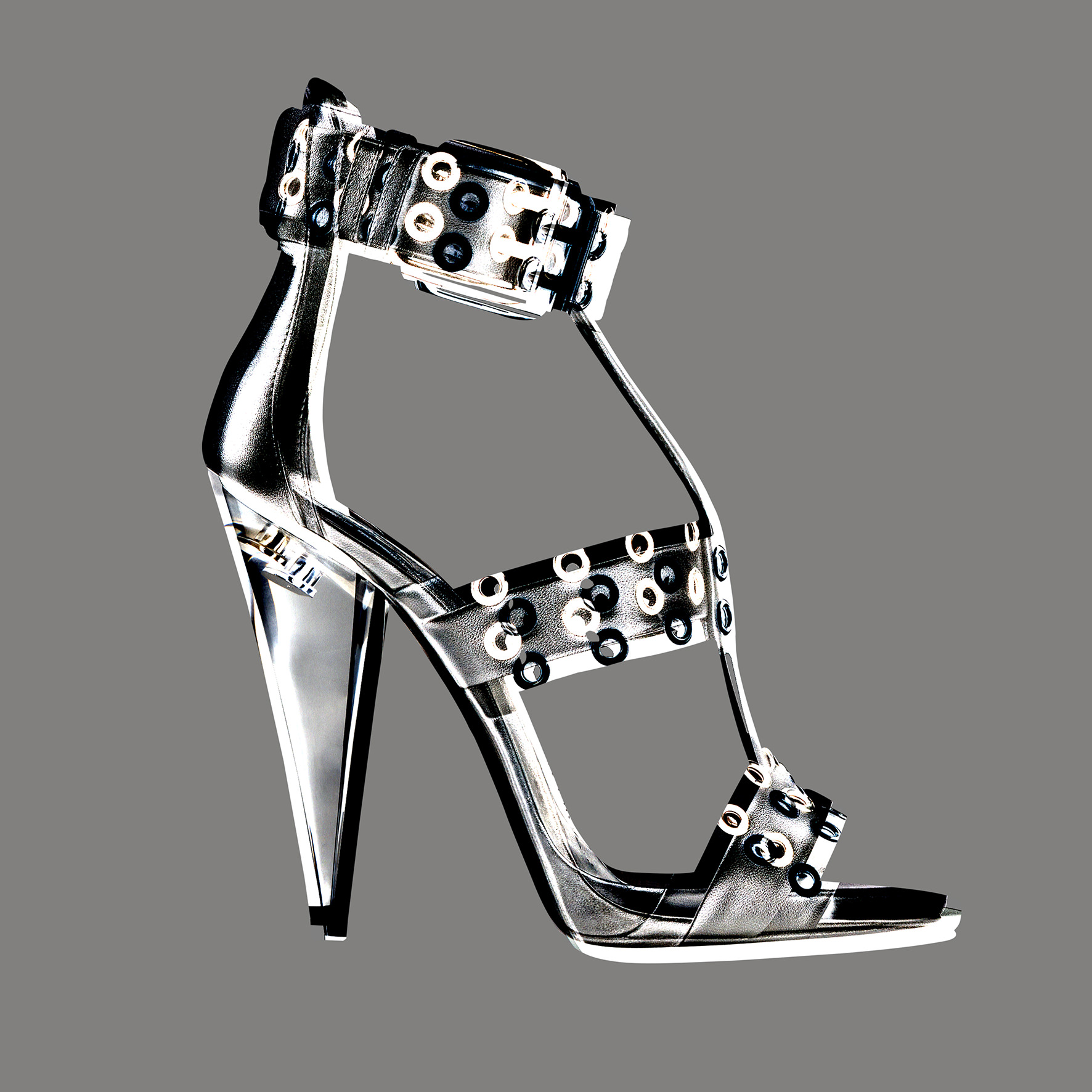 Metal and leather sandal, GIUSEPPE ZANOTTI DESIGN.   Selection by Rebecca Bleynie