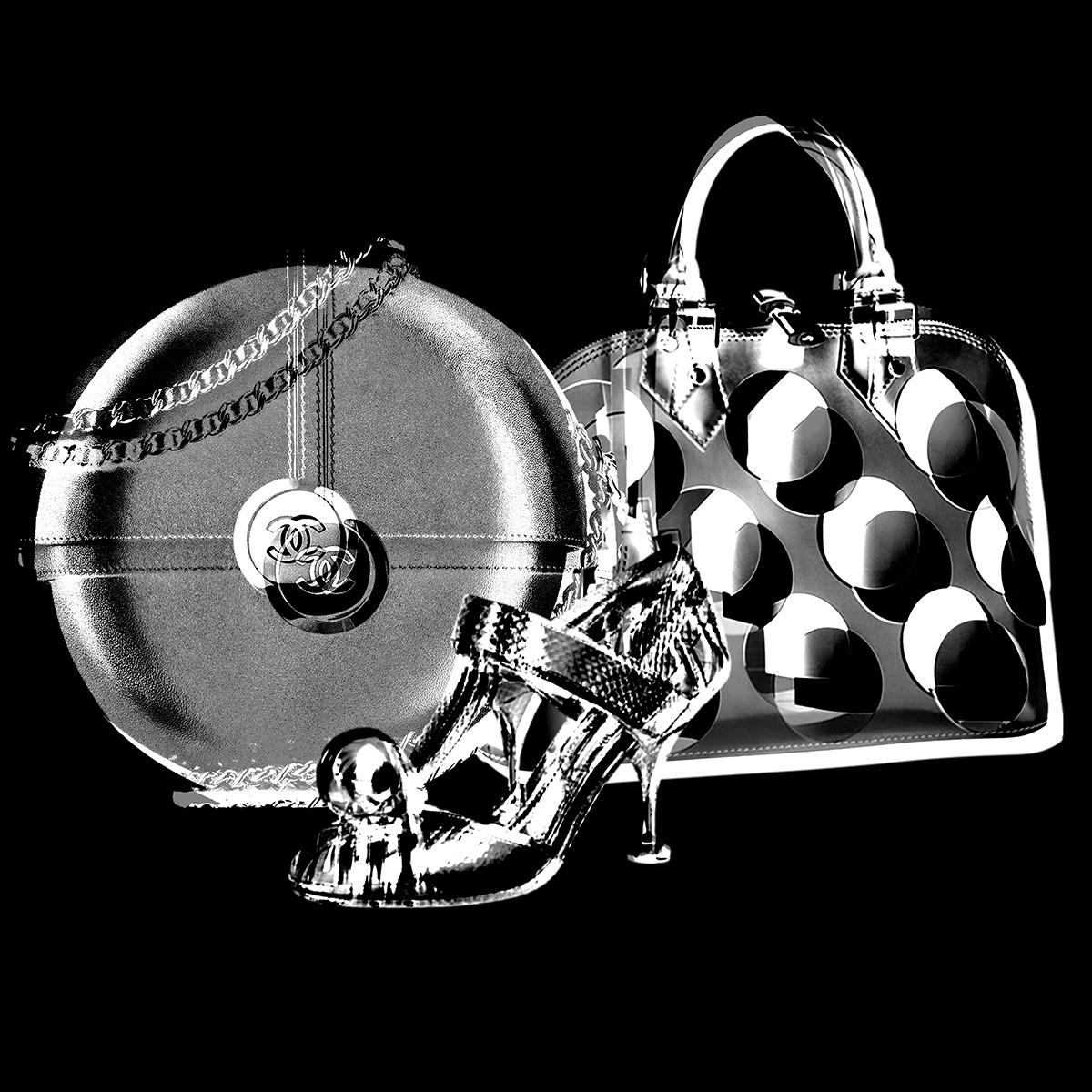 Prada, Louis Vuitton and Chanel's round accessories