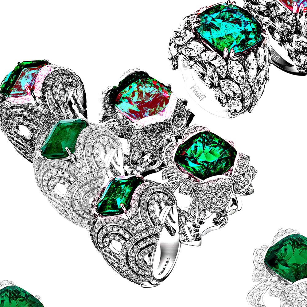 Les bagues vertes de Chaumet, Dior Joaillerie et Piaget