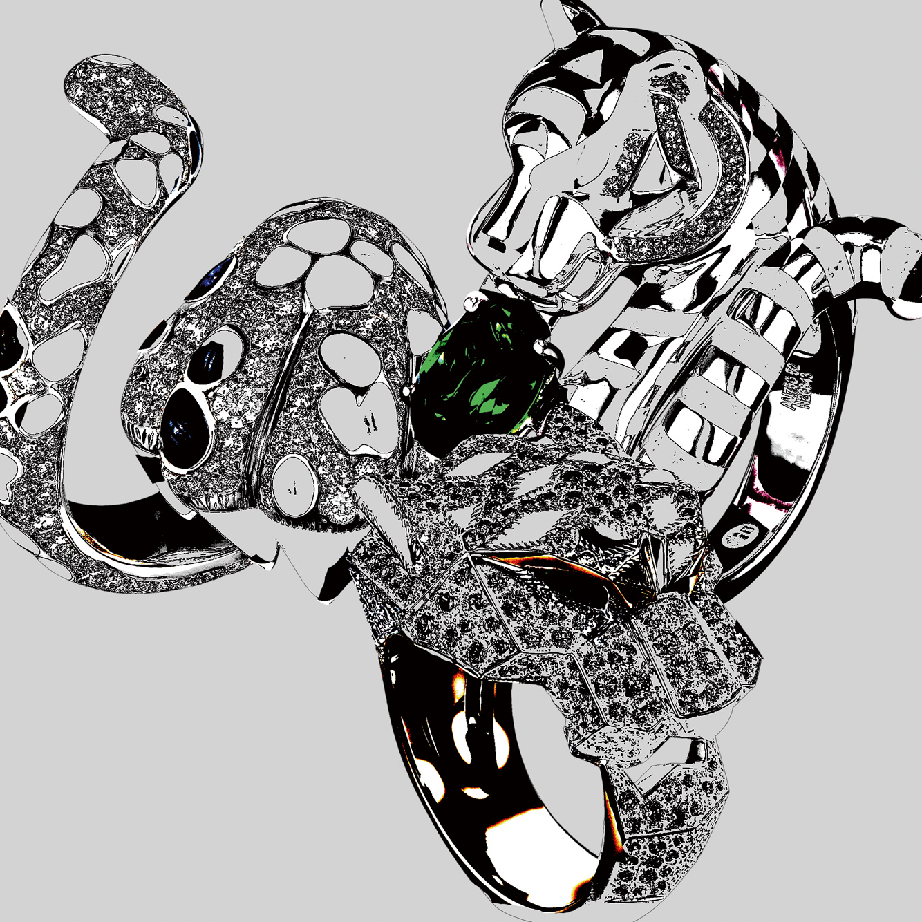 Dior, Cartier and Boucheron's feline jewelry