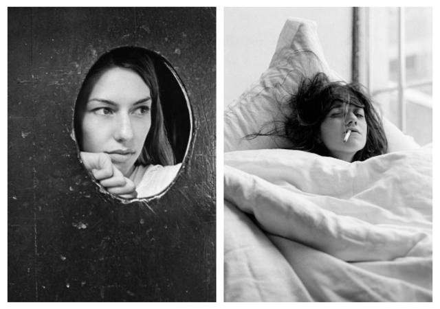 Actrices,Kate Barry. A gauche :Sofia Coppola. A droite : Charlotte Gainsbourg.