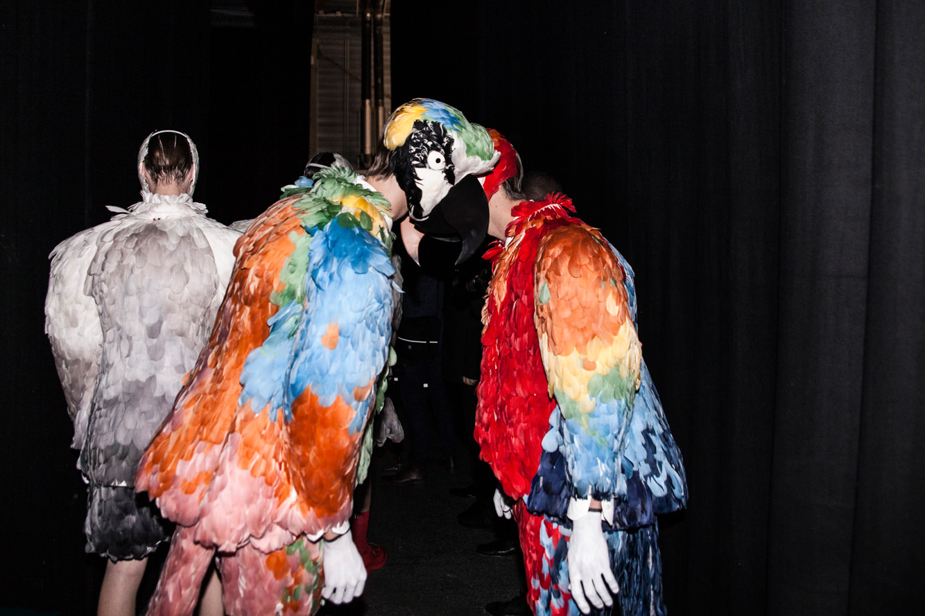 Bizarre birds: Thom Browne's spring-summer 2017 show