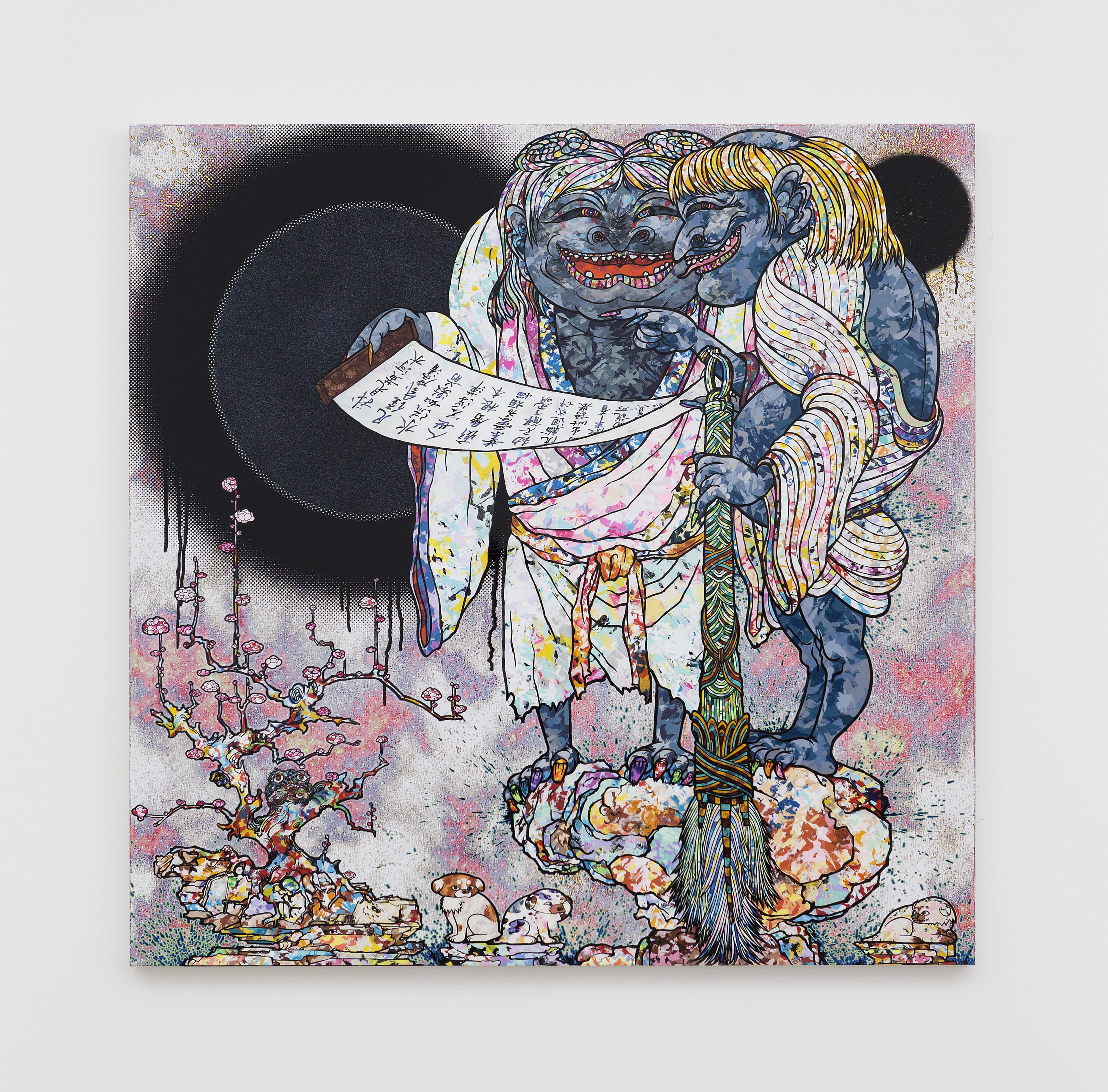 Takashi Murakami Title to Be Determined(2016). Acrylique sur toile montée sur châssis en aluminium. © 2016 Takashi Murakami/Kaikai Kiki Co., Ltd. Tous droits réservés. Photo : Claire Dorn. Courtesy ofGalerie Perrotin