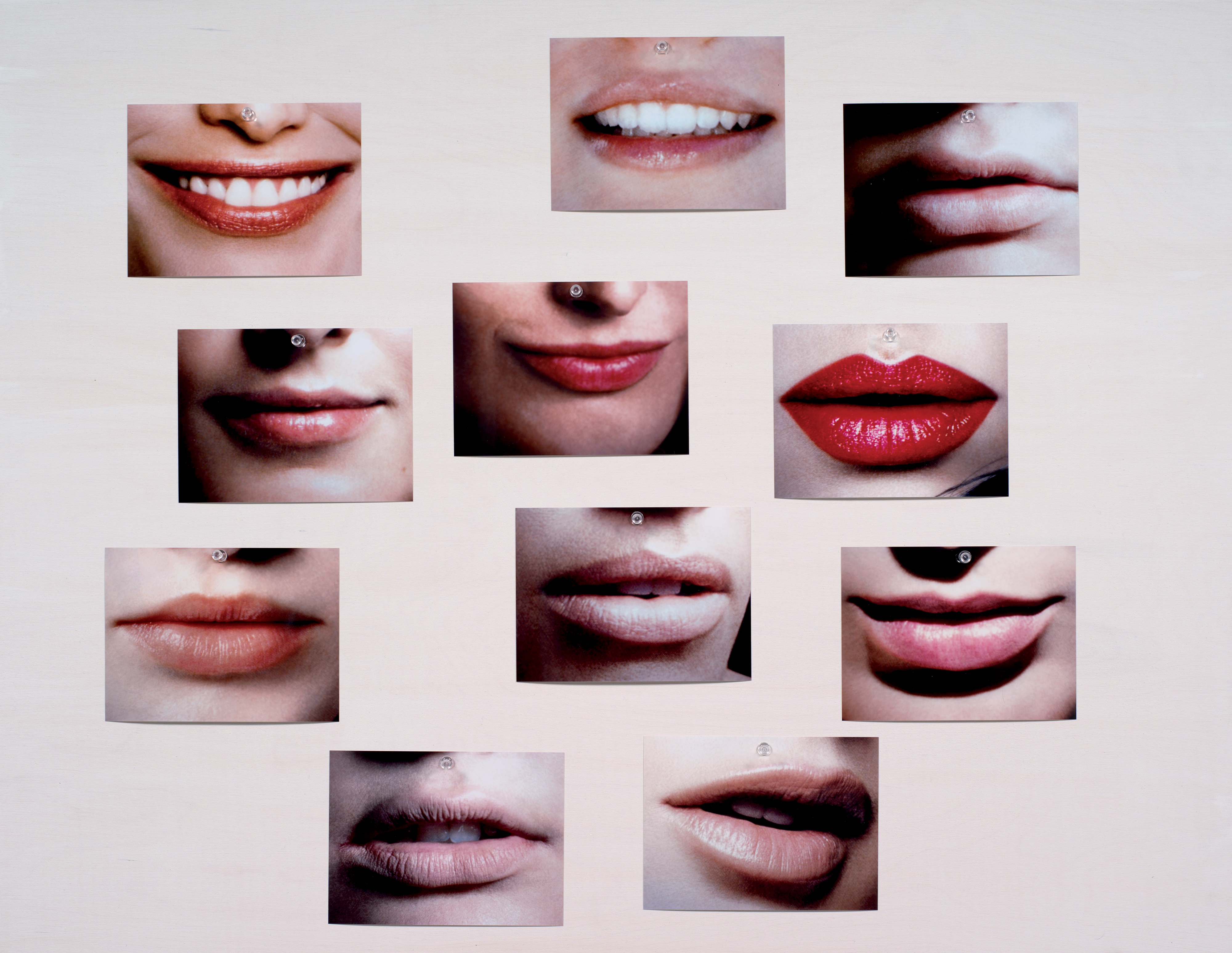 Lips 11 photographs mounted on board Courtesy of the artist and 303 Gallery, New York ADAGP, Paris 2016