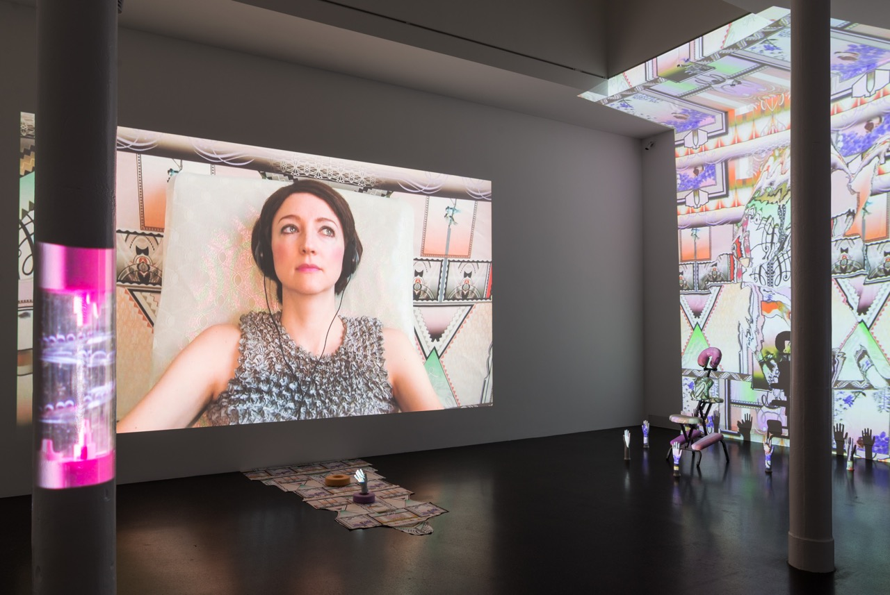 Exhibition view, Shana Moulton, 'The Rippled Self I Know', Galerie Gregor Staiger, Zurich, 2015
