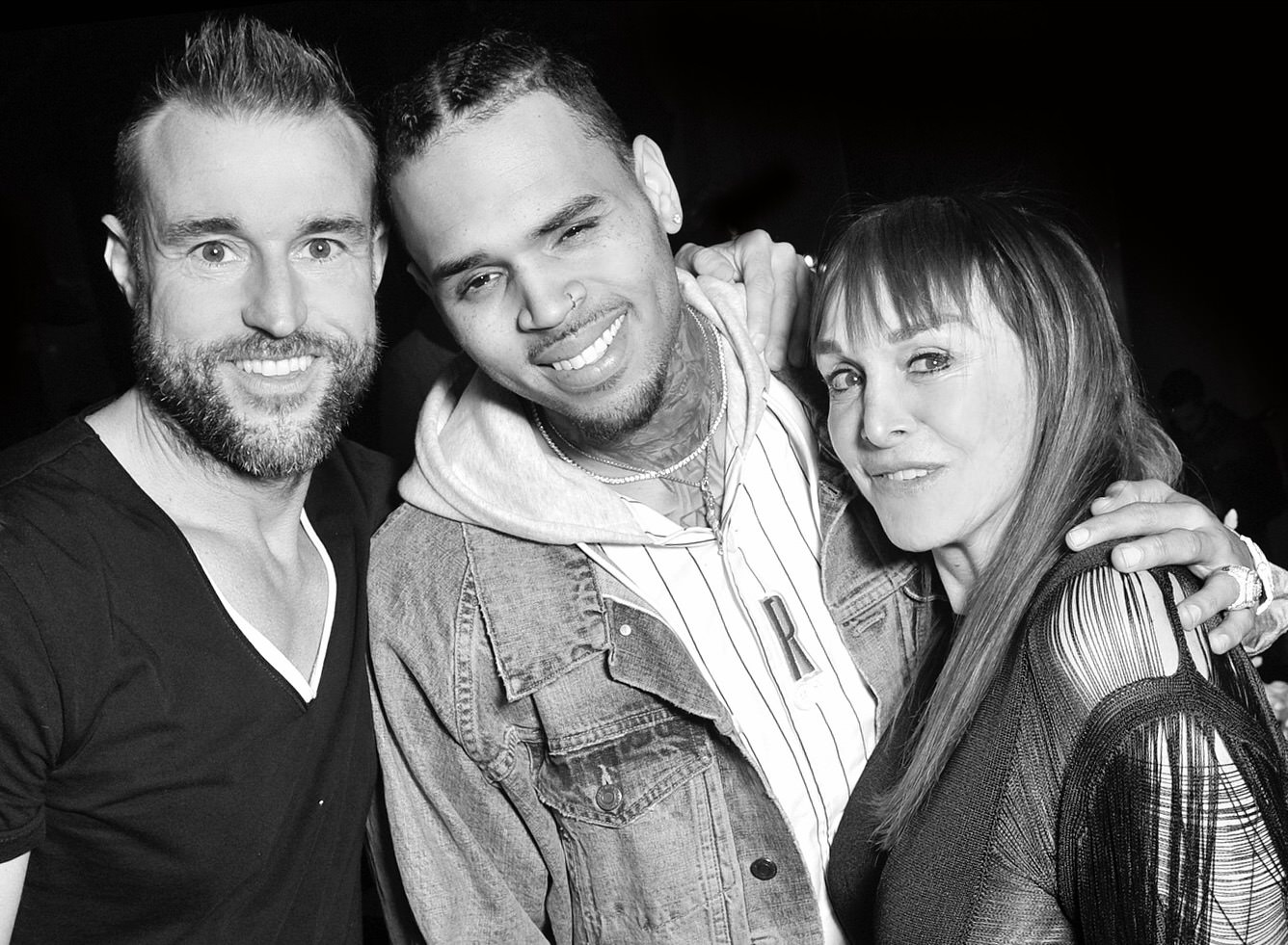 Philipp Plein, Chris Brown et Babeth Djian.
