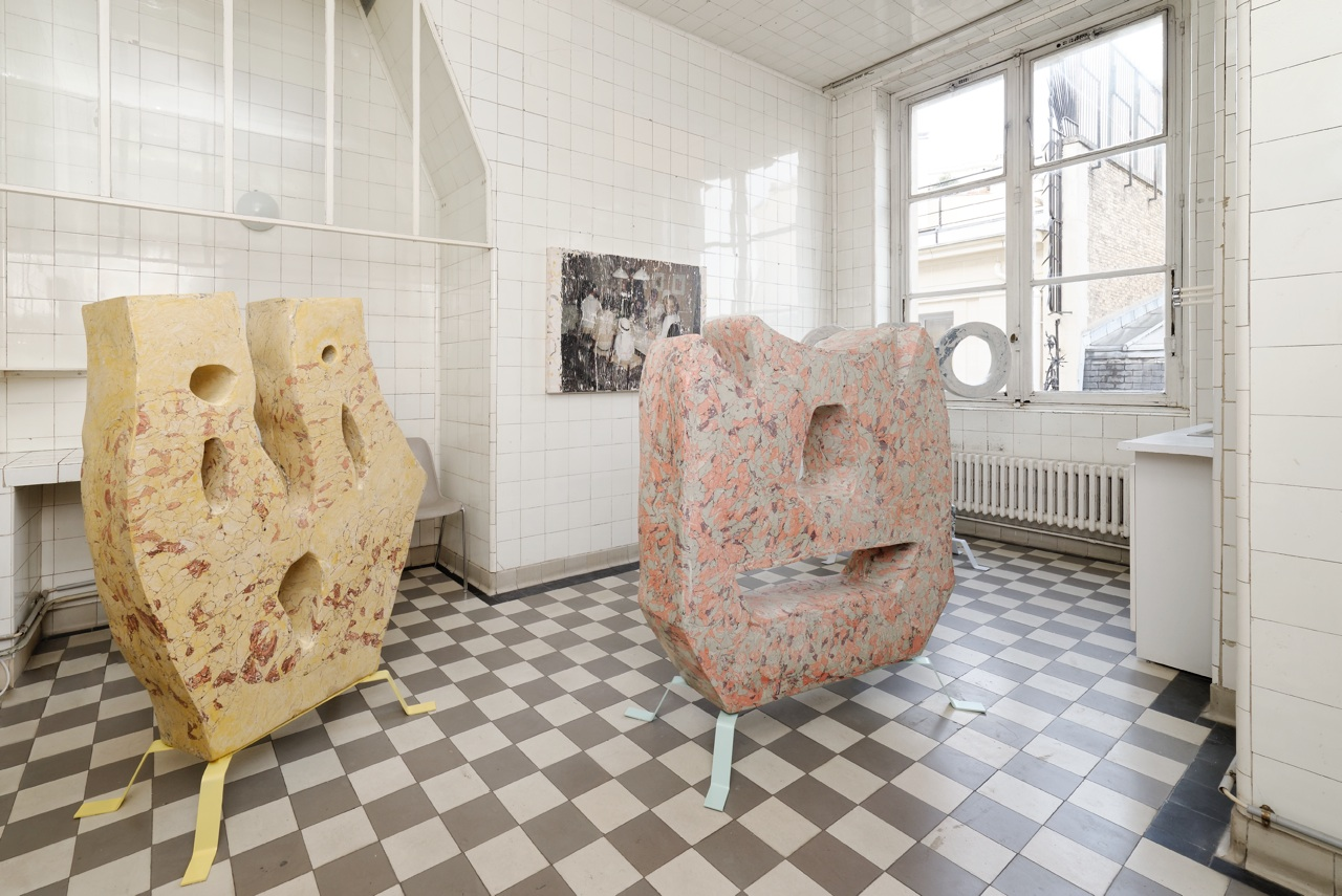 View from Tatjana Danneberg exhibition, LambdaLambdaLambda at Paris Internationale 2016. Courtesy of Paris Internationale and LambdaLambdaLambda, photo : Aurélien Mole.                         Hannah Black (Arcadia Missa gallery in Londres)   Also spotted at the Paris Internationale, British artist Hannah Black, now living in Berlin, was showing installations and video work about the human body, intimacy, identity and power, with impressive poetic force. She is also a contributor to the magazine The New Inquiry.   www.arcadiamissa.com